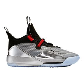sneakers for cheap 629b1 28473 Nike Men s Air Jordan XXXIII Basketball Shoes - Silver Black