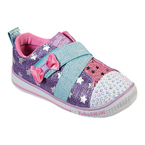 Skechers Girl Toddler Twinkle Play Z-Strap Shoes - Purple/Pink