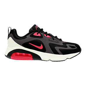 Nike Men's Air Max 200 Shoes - Thunder Grey/Black/Pink