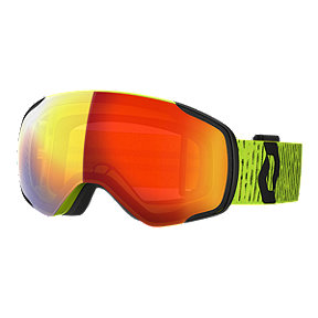 SCOTT Vapor Ski & Snowboard Goggles 2019/20 - Yellow with Enhancer Red Chrome Lens