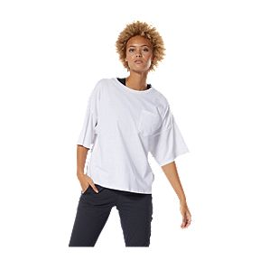 02f579f0 Reebok Women's Training Supply Pocket T Shirt - White