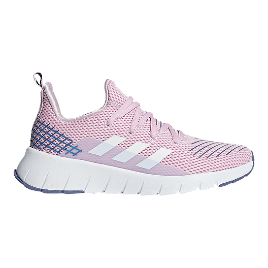 good out x reasonable price authorized site adidas Girls' Asweego Grade School Running Shoes - Aero Pink/White/True Blue