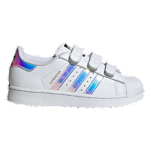 adidas Girls' Superstar Shoes WhiteMetallic Silver