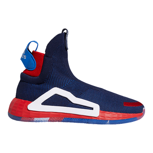 cb5d14e4db0d51 adidas Men's Marvel Captain America N3XT Basketball Shoes - Blue/Red/White  - ROYAL