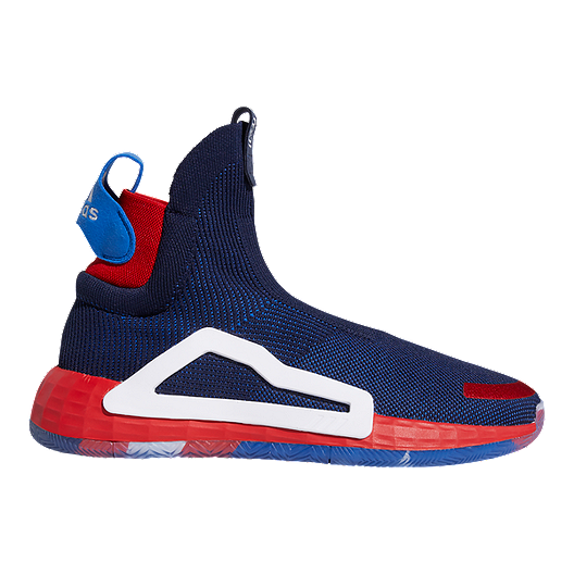 59633b296a81 adidas Men s Marvel Captain America N3XT Basketball Shoes - Blue Red White