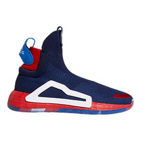 new arrival e14b4 ab2b2 adidas Men s Marvel Captain America N3XT Basketball Shoes - Blue Red White