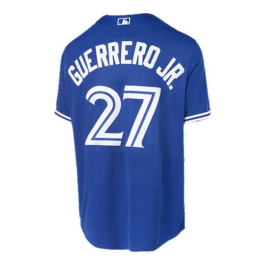 87436e965 Toronto Blue Jays Men s Majestic Vladimir Guerrero Jr. Replica Cool Base  Jersey - BLUE