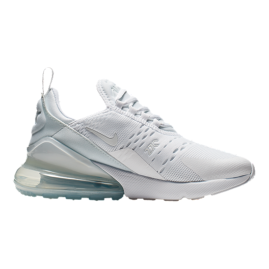 purchase cheap 78c83 d742f Nike Girls' Air Max 270 Shoes - White/Silver