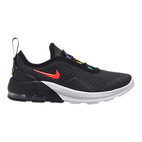 Nike Girls' Air Max Motion 2 Pre-School Shoes - Black/Crimson/White