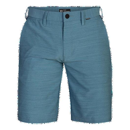 NEW HURLEY  Dri Fit HYBRID  aqua blue walk board shorts  36