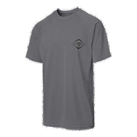 b33cf752e6 Hang Ten Men's Surf Club Rash Guard T Shirt - Charcoal