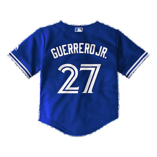 purchase cheap 2a9f6 49e97 Toddler Toronto Blue Jays Vladimir Guerrero Jr. Replica Blue Jersey