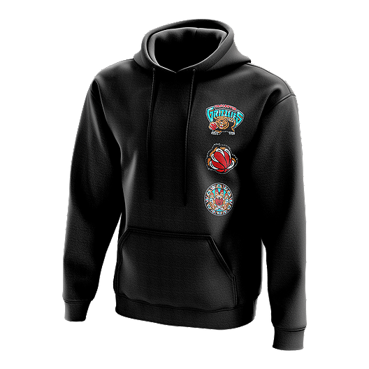 Vancouver Grizzlies Mitchell and Ness Hardwood Classics Logo Patch Hoodie
