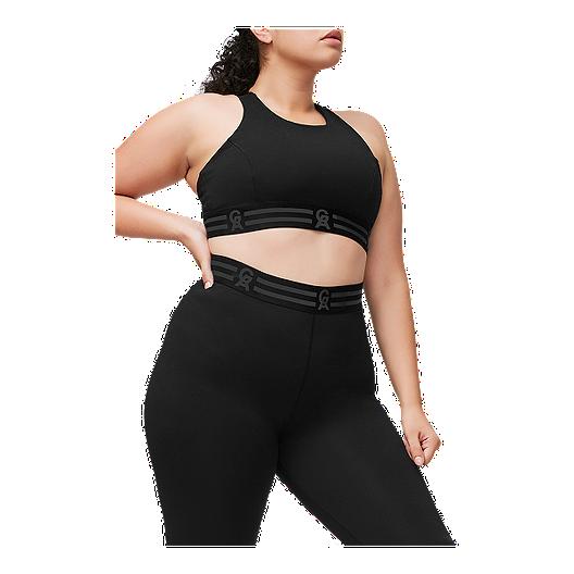 f7addd90f6a Good American Women's Crossback Icon Sports Bra - Black