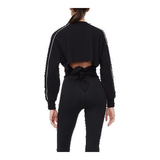 Good American Women's Tie Breaker Sweatshirt   Black by Sport Chek