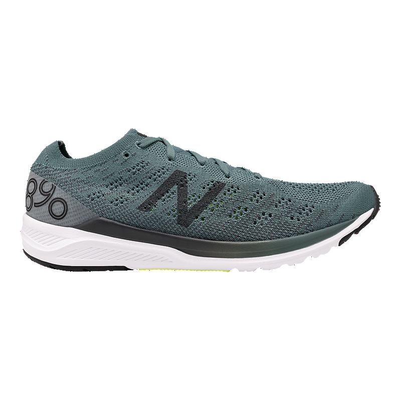 super qualità vasta selezione di boutique outlet New Balance Men's 890v7 2E Wide With Running Shoes - Green/White ...