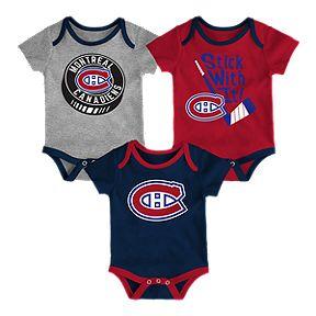 Boston Bruins Infant Even Strength 3-Piece Creeper Set