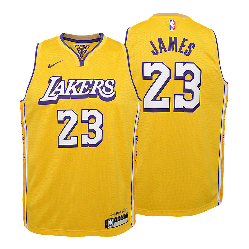 Youth Los Angeles Lakers Lebron James City Edition Swingman Jersey Sport Chek
