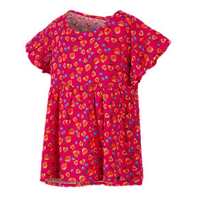 Ripzone Girls' 2-7 Keat Woven Strawberry All Over Print T Shirt