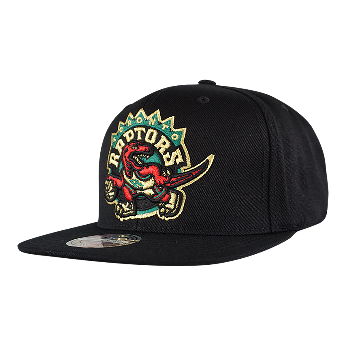 quality design c17c0 dd042 Toronto Raptors Mitchell and Ness Euro XL Snapback Cap - BLACK
