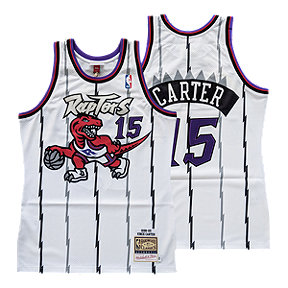 Toronto Raptors Mitchell and Ness Authentic Carter White Jersey