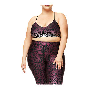 Good American Women's Barely There Scoop Bralette - Ombre Leopard