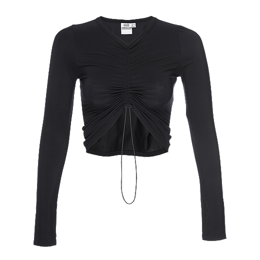 Good American Women's Shirred Long Sleeve Shirt by Sport Chek