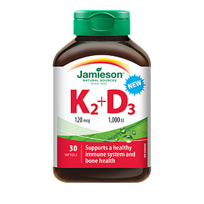 Jamieson Vitamin K2 + D3 - 30 Softgels