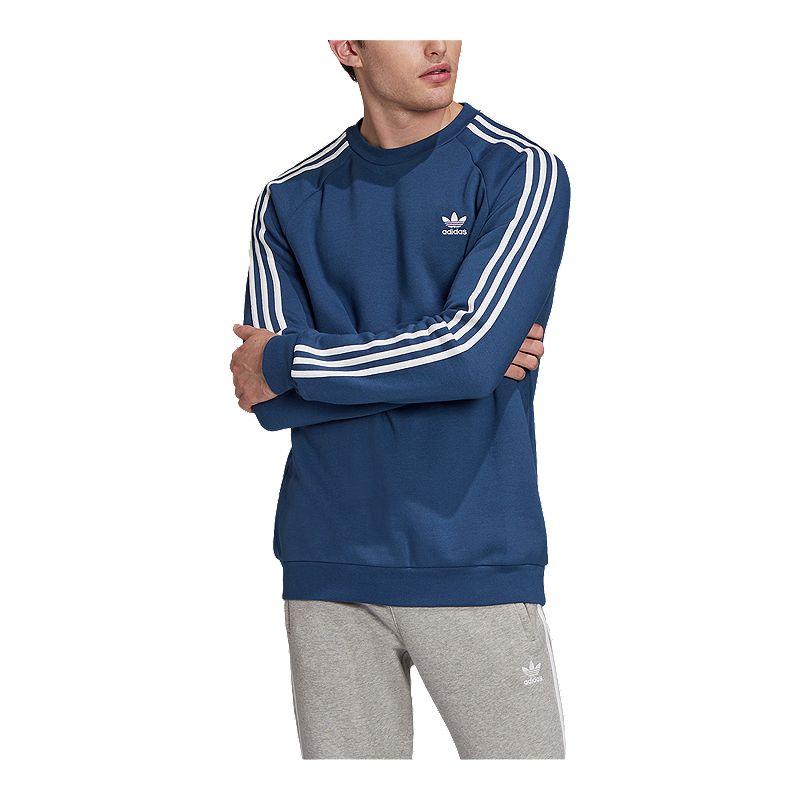 collar ingeniero escarcha  adidas Men's Originals 3 Stripe Sweatshirt   Sport Chek