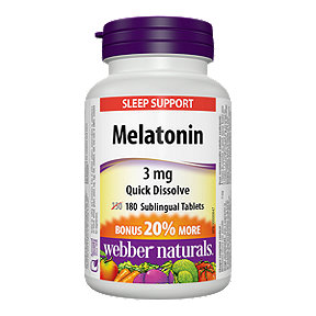 Webber Naturals Melatonin Quick Dissolve 3 Mg Bonus 150+30 Sublingual Tablets