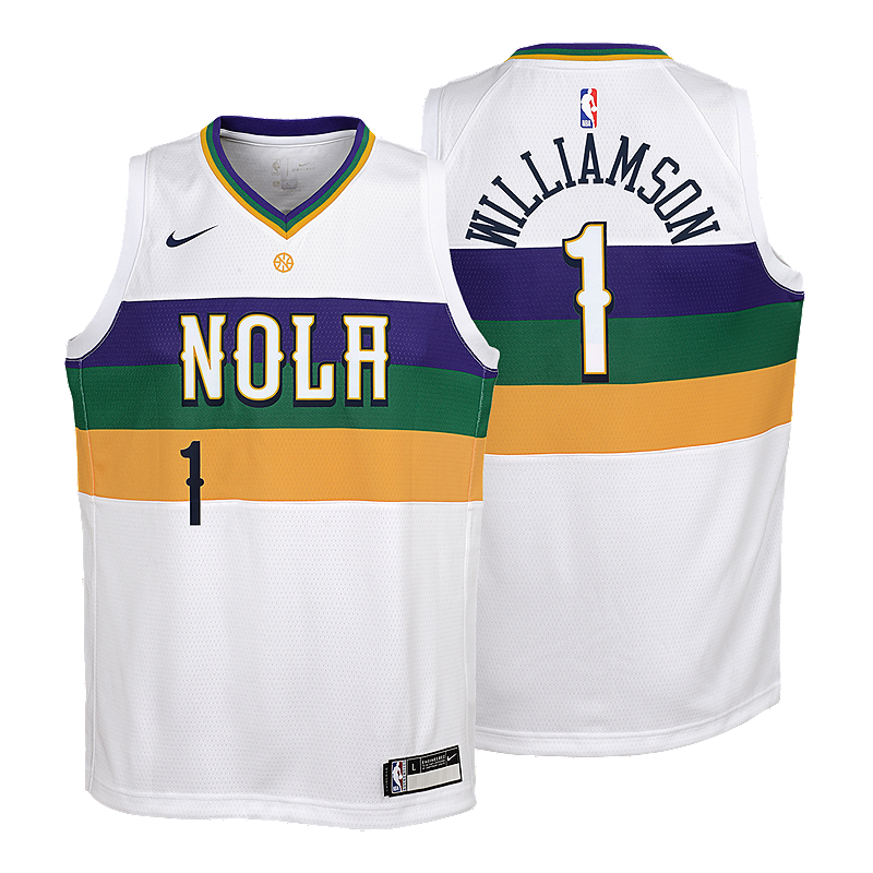 Youth New Orleans Pelicans Zion Williamson City Edition Swingman Jersey