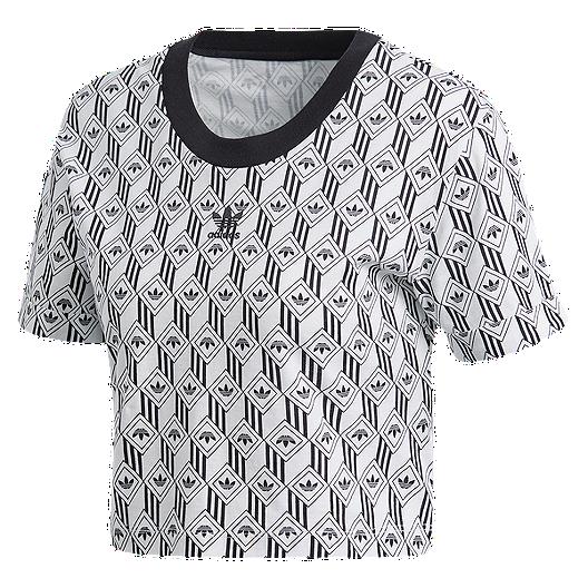 Rovinare Conquistatore romanzo  adidas Originals Women's Monogram Crop T shirt   Sport Chek