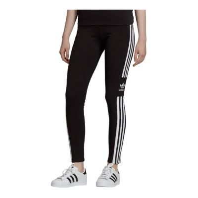 adidas originals 3 stripes trefoil velvet leggings