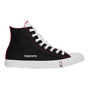 Converse Men's NBA Toronto Raptors Chuck Taylor All-Star Hi Top Shoes - Black/Casino/White