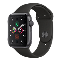 Apple Watch Series 5 GPS 44MM - Space Grey/Black Sport Band