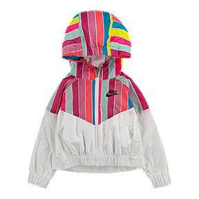 Nike Sportswear Girls' 2-4 Rainbow Stripe Windrunner