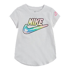 Nike Toddler Girls' Air Bubble Logo Scoop T Shirt