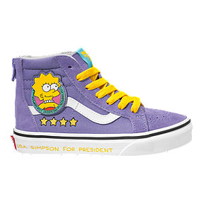 Vans x Simpsons Girls' SK-8 Hi Lisa 4 Prez Skate Shoes