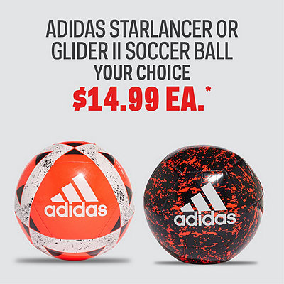 adidas Starlancer of Glider II Soccer Ball, Your Choice $14.99