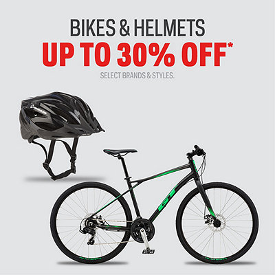 Bikes & Helmets up to 30% Off*