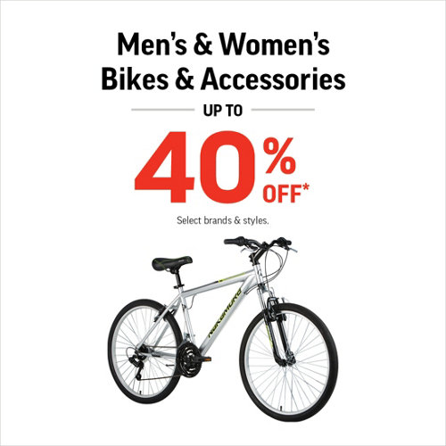 Men's & Women's Bikes & Accessories Up to 40% Off* Select Brands & Styles