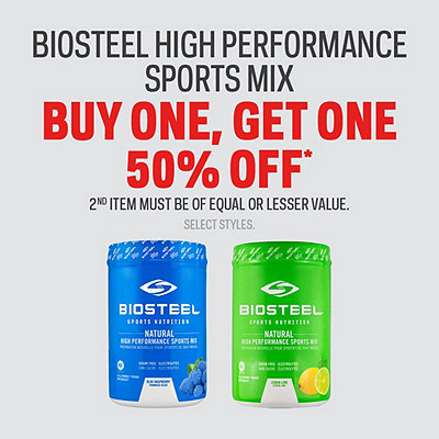 Biosteel High Performance Sports Mix Buy One, Get One 50% Off* Sale
