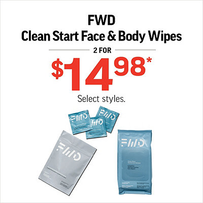 FWD Face & Body Wipes 2 for $14.98*