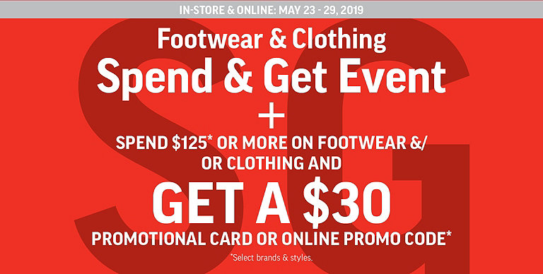d8241df3b Footwear   Clothing Spend   Get