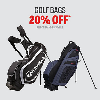 Select Golf Bags 20% Off* Sale