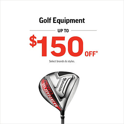 Golf Clothing, Shoes, and Equipment up to $150 Off*