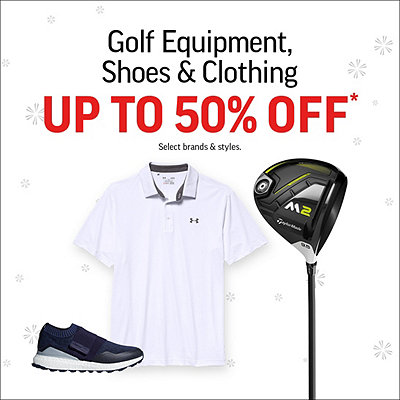 Golf Equipment and Shoes up to 50% Off*