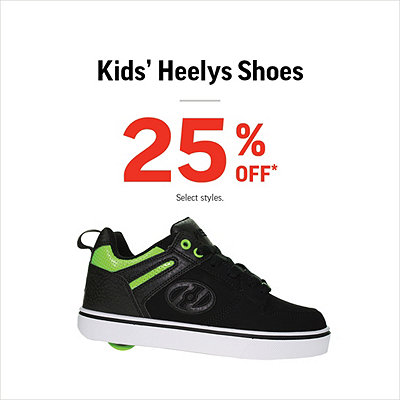 bca43d9b7eb Select Kids  Heelys Shoes 25% Off