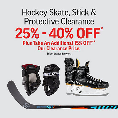 Hockey Skate, Stick & Protective Clearance