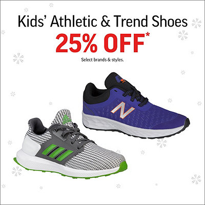 Kids' Athletic & Trend Shoes 25% Off*